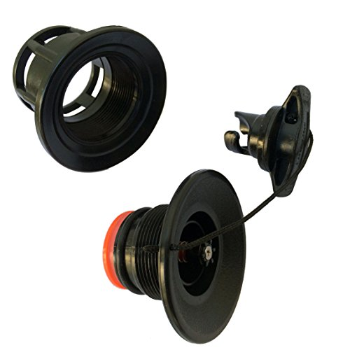 Black Inflatable Boat Halkey-Roberts(HR) Type Air Valve Fill and Deflate Valve fits for 11' inflatable sup - Halkey Roberts Valve