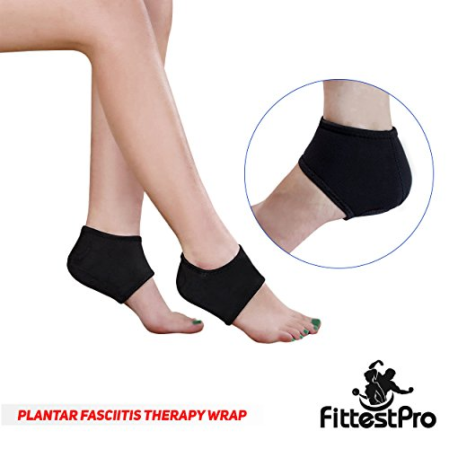 Fittest Pro Foot Sleeve, Plantar Fasciitis Heel Protectors, Arch Support Therapy Wrap, Cushioned Heel Support - Ankle Foot Pain Relief Sock Bundle (Pack of 8) (Small/Medium) by Fittest Pro (Image #2)