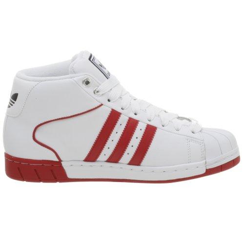 Adidas Originals Mens Pro Modell Attityd Sko Wht / Röd / Marinblå