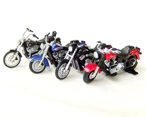 Honda Cbr Star Race (4pcs 1:43 Scale Motorcycle Bike Figure Model Movable Wheels Red Blue Black)