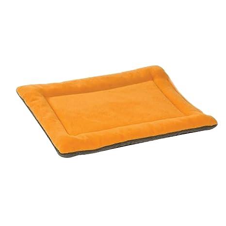 Wicemoon 1pcs Colchoneta para Mascotas Cojín de Cama Suave para Dormir para Perros Pequeños Y Medianos Naranja 61 * 48 * 3cm