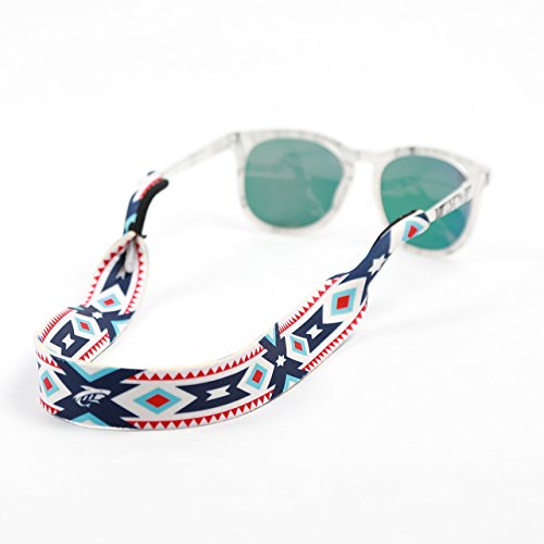 Pilotfish Sunglasses Strap - Floating Neoprene Eyewear Retainer - Sunglass Holder Strap - Custom Design - Aztec Sunglasses Suns