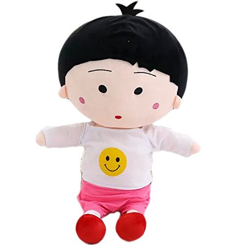 - E.a@Market Cute Chi-bi Maruko Plush Toys Girl's Gifts (Smiling T-Shirt)