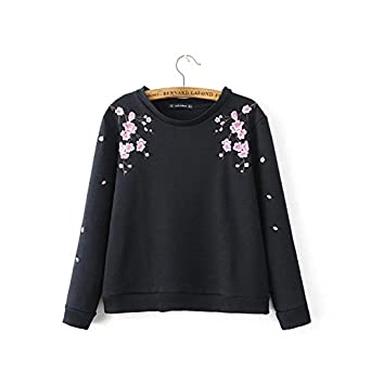497884cbda1 YLSZ-Long Sleeved Round Neck Sweater Fashion All-Match Embroidery Long  Sleeved Dress Sweater