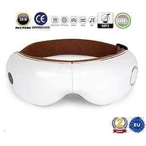 SKANDAS® Massaggiatore per occhi (modello 2020) - Maschera elettrica per occhio – Massaggiatore bicchieri con massaggio termico, vibrazione, pressione e musica - 2 Anni Garanzia 7 spesavip