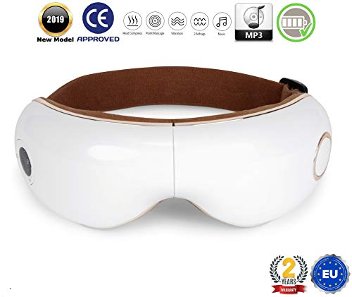SKANDAS® Massaggiatore per occhi (modello 2020) - Maschera elettrica per occhio – Massaggiatore bicchieri con massaggio… 1 spesavip
