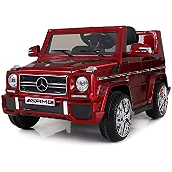 licensed kids ride on powered car with remote control mercedes benz g65 red
