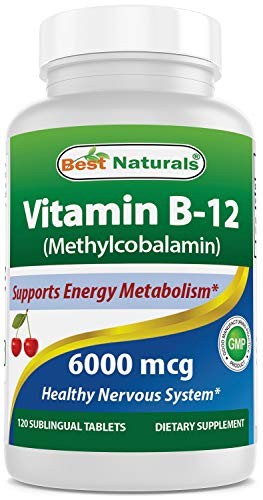 Best Naturals Vitamin B12 6000 mcg 120 Tablets