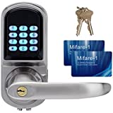 TIVDIO S200MF Digital door lock Keypad Door Lock Entry Door Lock with Code Mifare Card and Mechanical Key