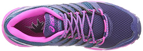 4 Women's 4935 FujiAttack Blue Asics B Shoes Gel Trail Blue Mosaic Pink Indigo Running Glow ngBgEx