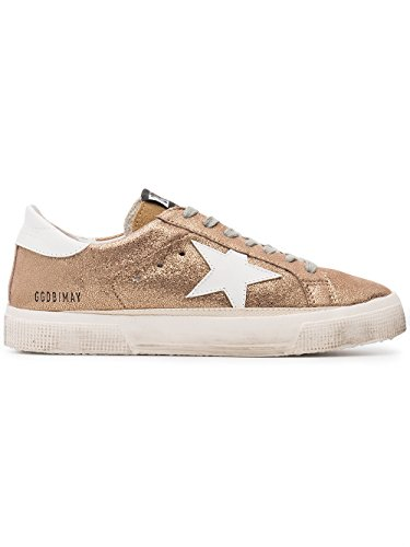 Golden Goose Women's G32WS127H3 Gold Leather Sneakers discount for nice iHCqVs