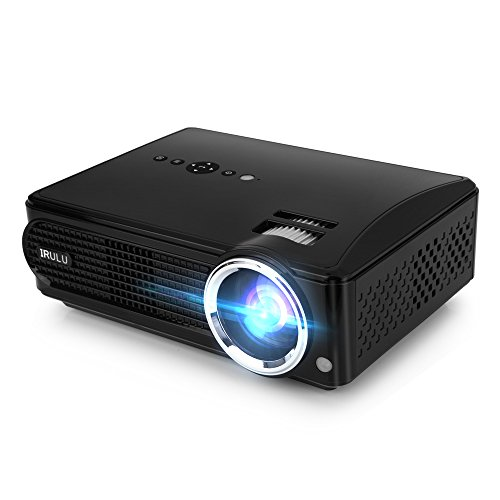 iRULU P4 HD LED Video Projector Multimedia Home Cinema Theater Support 1080P Big Screen for TV Laptop Game Smartphone by iRULU
