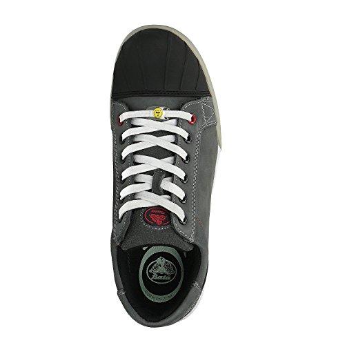 Zapatos de Seguridad S3 ESD con Puntera - Anti-Estático / Suela Resistente al Calor / Cool System Tech / Sin Metal - para Trabajo, Electricidad, Construcción, Industria, Logística, Almacén - Color: Gr