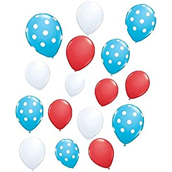 30 Pack Dr. Suess theme Latex Balloons - Baby Shower/Birthday/Cat Hat Party Supplies Decorations by Yen Jean