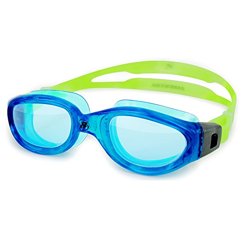 Barracuda Swim Goggle MANTA - Oversize Triathlon Open Water, Anti-Fog UV Protection, Easy Adjusting, One-piece Frame Quick-fit No leaking Comfortable for Adults Men Women #13520 - Open Goggles Swim Water