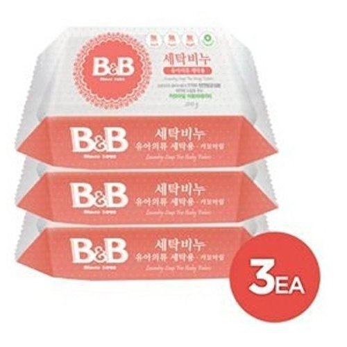 Price comparison product image [B&B] b&b Laundry Soap for Baby Clothing [(Chamomile) - 200g 3EA]