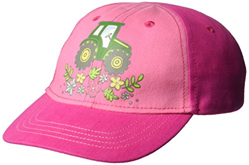 John Deere Girls' Toddler Baseball Cap, Pink