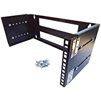 CNAweb 4U 19-Inch Hinged Extendable Wall Mount Bracket Network Equipment Rack - Black