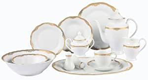 Lorren Home Trends Catherine 57 Piece Dinnerware Set