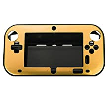 Nintendo Wii U Gamepad Controller Case - SODIAL(R) New Hard Aluminum Skin Cover Case For Nintendo Wii U Gamepad Remote Controller gold