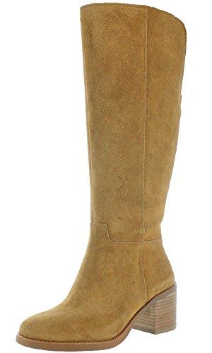 Lucky Brand Jeans Ritten Women's Heeled Wide Calf Boot Brown Size 6.5
