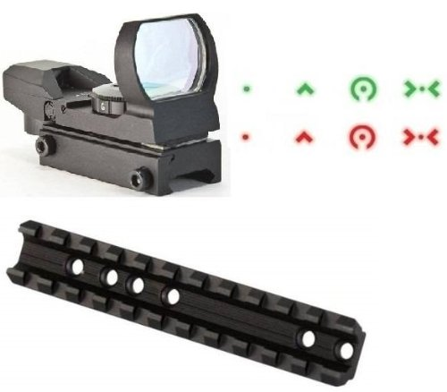 Ultimate Arms Gear Marlin Rifle Deluxe Scope Mount + Reticle Red Green Extreme Ops Edition Open Reflex Hunting Scope Sight