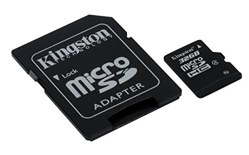 - Kingston Digital 32 GB microSDHC Flash Memory Card SDC4/32GB