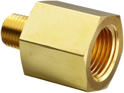 (Parker 2-1 RA-B Brass Pipe Fitting, Reducing Adapter, 1/8