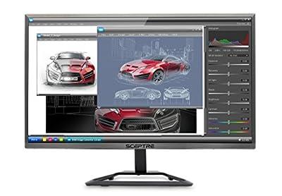 """Sceptre E E248W-1920R 24"""" Ultra Thin LED Monitor HDMI, Metallic"""