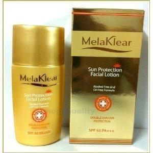 (Mela K. Sun Protection Facial Lotion Alcohol Free and Oil Free Formula Double UVA/UVB Protection Reduce Melasma SPF 50 PA+++)