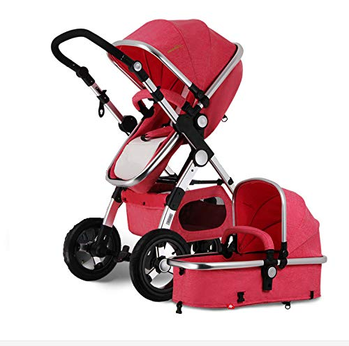 Baby Stroller 3 in 1 high Landscape Folding Stroller Baby Crib Infant car seat Sleeping Basket can sit and Lie