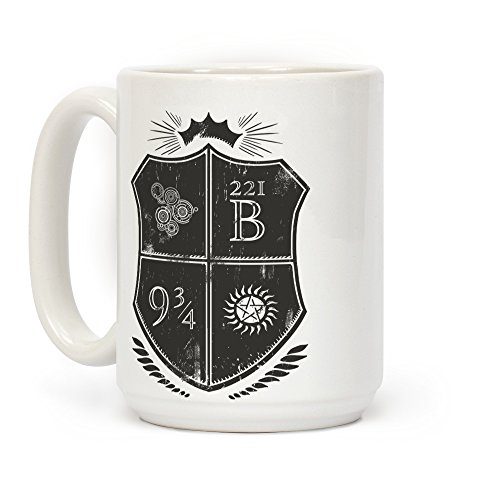 LookHUMAN Fandom Family Crest White 15 Ounce Ceramic Coffee Mug