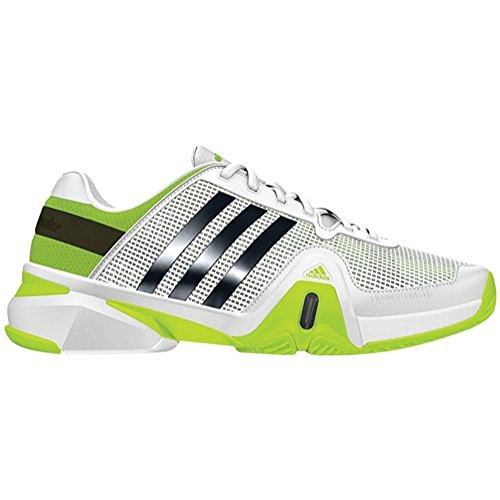Adidas Men's Barricade 8 (7.5, White/Night Shade/Solar Slime)