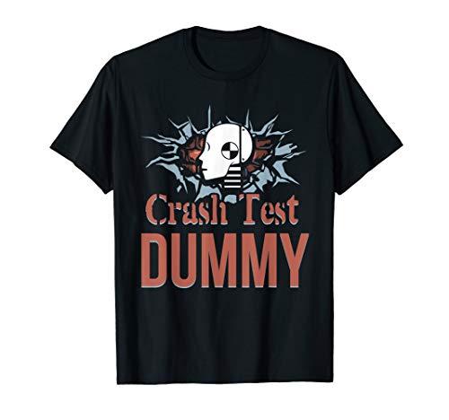 Funny Crash Test Dummy Easy Last Minute Halloween Costume T-Shirt