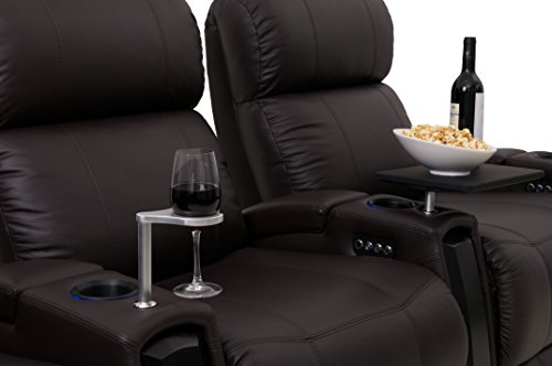 Viper xl500 home theater chairs octane seating black top grain leather adjustable headrest Home theater furniture amazon
