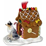 Australian Shepherd Gingerbread House Christmas Ornament Blue Docked Tail - DELIGHTFUL! by Conversation Concepts