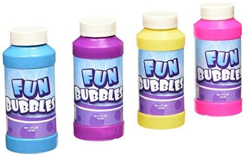 Rhode Island Novelty Bubble Bottles Assortment (12-Pack) - 4oz -