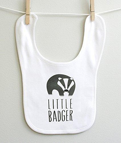 Little Badger Boy Girl Baby Burp Bib 100% Cotton