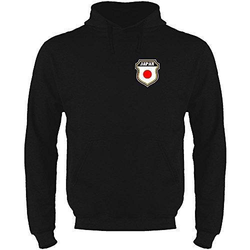 Japan Soccer Retro National Team Black M Mens Fleece Hoodie Sweatshirt