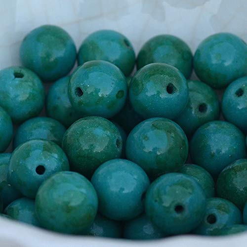 Wholesale Lot Natural Gemstone Round Spacer Loose Beads 8mm Blue Chrysocolla Color
