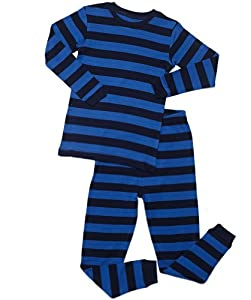 "Leveret ""Little Boy"" Striped 2 Piece Pajama Set 100% Cotton (Size 2-5 Years)"
