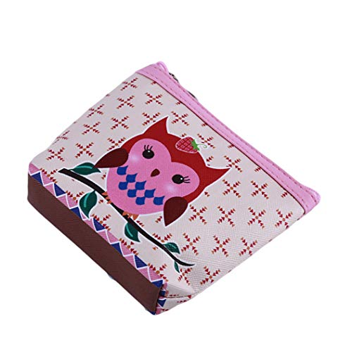 LZIYAN Cute Coin Purse Cartoon Owl Pattern Coin Purse Clutch Bag Portable Small Wallet With Zipper Storage Bag Creative Gift For Women,3# by LZIYAN (Image #3)