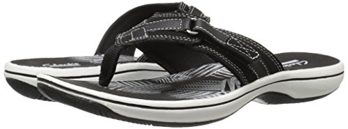 CLARKS Women's Breeze Sea Flip Flop, New Black Synthetic, 8 M US by CLARKS (Image #14)