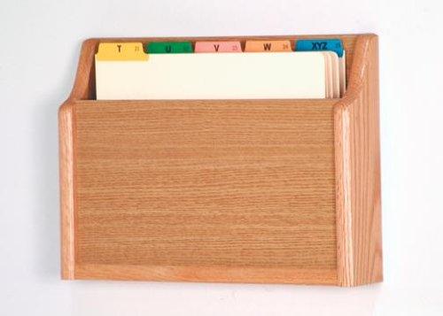 Wooden Mallet CH15-1 Light Oak Single Pocket Wall Mounted File/Chart Holder