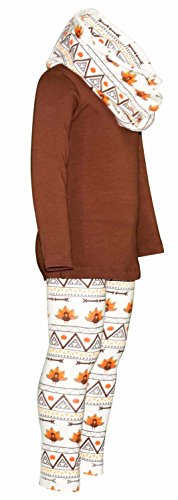 Unique Baby Girls 3 Piece Thanksgiving Tribal Turkey Legging Set (5) by Unique Baby (Image #1)