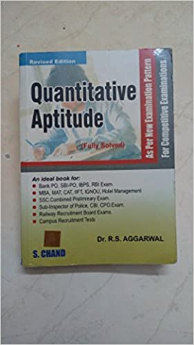 Amazon In Buy Quantitative Aptitude By R S Agarwal Book Online At