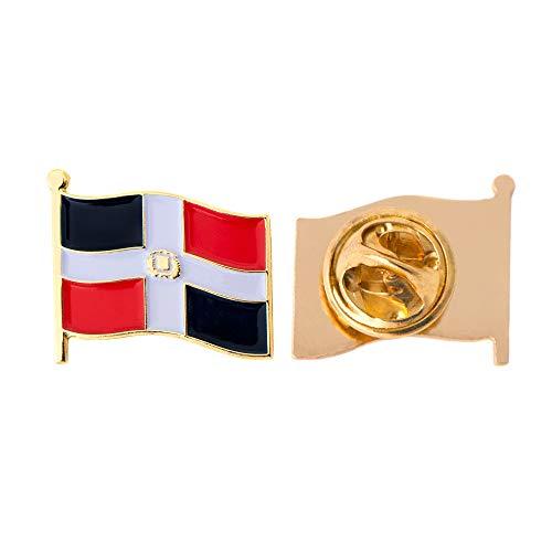 (Dominican Republic Country Flag Lapel Pin Enamel Made of Metal Souvenir Hat Men Women Patriotic (Waving Flag Lapel Pin))