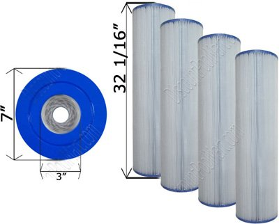 4 Pack New Unicel C-7472 Clean & Clear 520 Cartridge Filters PCC130 FC-1978 by Unicel