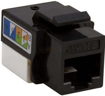 10 pack lot Keystone Jack Cat5e Black Network Ethernet 110 Punchdown RJ45 8P8C