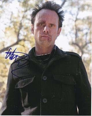 WALTON GOGGINS signedJUSTIFIED 8X10 photo W/COA Boyd Crowder #5